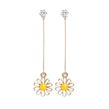 Žene Viseće naušnice Klasičan Long Cvijet Tratinčica dame Europska slatko Elegantno Umjetno drago kamenje Naušnice Jewelry Zlato Za Kauzalni Dnevno 1 par