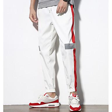 Muškarci Ulični šik Sportske hlače Hlače Prugasti uzorak / Geometrijski oblici