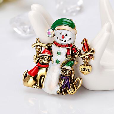 Žene Broševi Klasičan Crtići Europska Moda Broš Jewelry Zlato Srebro Za Božić Dnevno