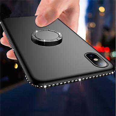 Недорогие Кейсы для iPhone-Кейс для Назначение Apple iPhone X / iPhone 8 Pluss / iPhone 8 Кольца-держатели / Ультратонкий / Матовое Кейс на заднюю панель Сияние и блеск / Стразы Мягкий ТПУ