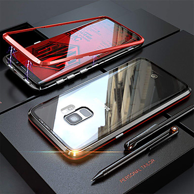 Kılıf Na Samsung Galaxy Note 9 / Note 8 Transparentny Pełne etui Solidne kolory Twardość Szkło hartowane / Metal