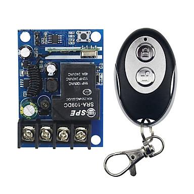 Χαμηλού Κόστους Ρελέ-μάθησης τύπου 220v 4διακόπτης διακόπτης τηλεχειρισμού μεταλλικό κάλυμμα ώθησης στρογγυλό ασύρματο τηλεχειριστήριο 4 πλήκτρων