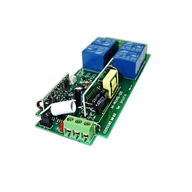 olcso Relék-220V 4-utas távirányító kapcsoló mahagóni 4 gomb vezeték nélküli távirányító