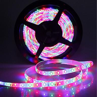 SENCART 5m Setovi svjetala 300 LED diode SMD5630 1 44Ključuje daljinski upravljač / 1 x 2A mrežni adapter RGB Cuttable / Ukrasno / Povezivo 120-240 V 1set