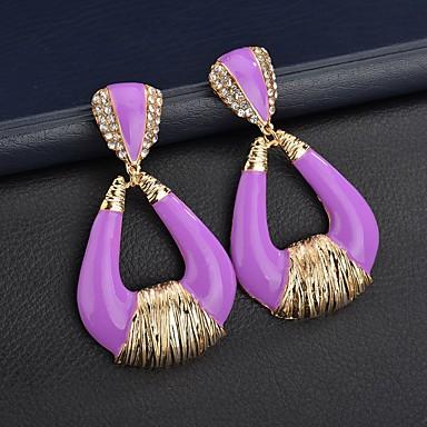 Žene Viseće naušnice Retro dame Vintage Europska Pozlaćeni Naušnice Jewelry Pink / Svjetloplav / kože Za Ulica 1 par