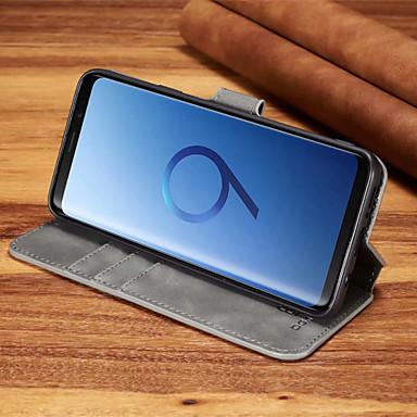 Θήκη Za Samsung Galaxy S9 Plus / S9 Utor za kartice / Otporno na trešnju Korice Jednobojni Tvrdo PU koža za S9 / S9 Plus / S8 Plus