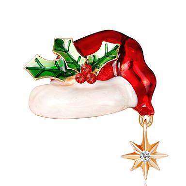 Žene Broševi Klasičan Kreativan Crtići Europska Moda Broš Jewelry Crvena Za Božić Dnevno
