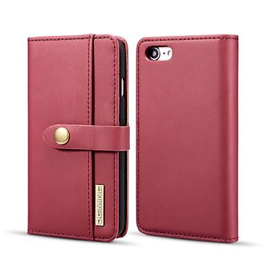 voordelige iPhone-hoesjes-hoesje Voor Apple iPhone 8 / iPhone 7 Portemonnee / Kaarthouder / met standaard Volledig hoesje Effen Hard aitoa nahkaa