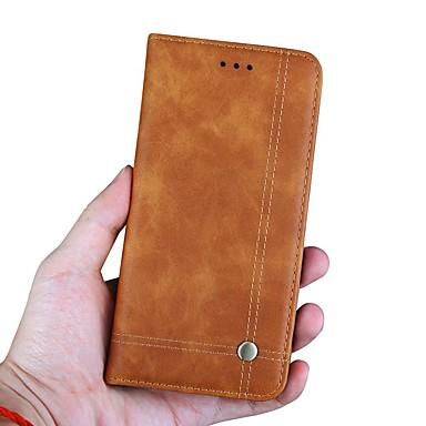 رخيصةأون Xiaomi أغطية / كفرات-غطاء من أجل Xiaomi Xiaomi Redmi Note 5 Pro / Xiaomi Pocophone F1 / Xiaomi Redmi 6 Pro محفظة / حامل البطاقات / مع حامل غطاء كامل للجسم لون سادة / قرميدة قاسي جلد PU
