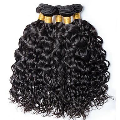 6 paketića Brazilska kosa Water Wave Ljudska kosa Netretirana  ljudske kose Ljudske kose plete Produžetak Bundle kose 8-28 inch Prirodna boja Isprepliće ljudske kose Svilenkast Rasprodaja Gust