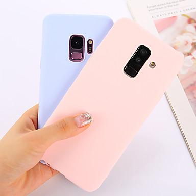 Недорогие Чехлы и кейсы для Galaxy Note-Кейс для Назначение SSamsung Galaxy Note 9 / Note 8 Ультратонкий Кейс на заднюю панель Однотонный Мягкий ТПУ