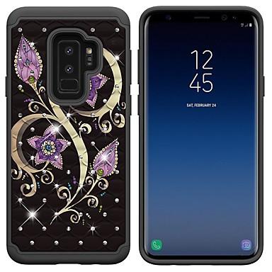 Θήκη Za Samsung Galaxy S9 / S9 Plus / S8 Plus Otporno na trešnju / Štras / Uzorak Stražnja maska Umjetno drago kamenje / Cvijet Tvrdo PC