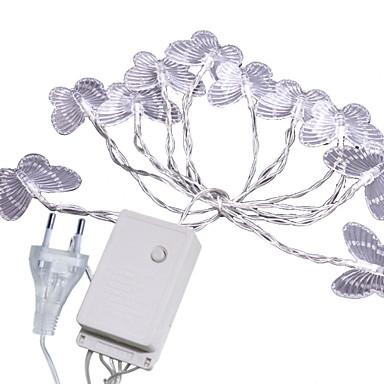 5m Cordões de Luzes 20 LEDs Branco Quente Decorativa 220-240 V 1conjunto
