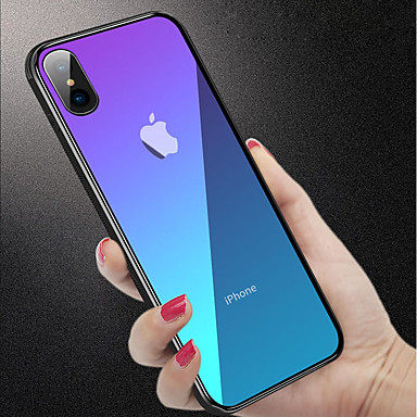 Θήκη Za Apple iPhone XS / iPhone XR / iPhone XS Max Otporno na trešnju / Translucent Stražnja maska Jednobojni Tvrdo Kaljeno staklo
