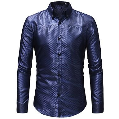 Majica Muškarci - Osnovni Dnevno / Rad Jednobojni Slim Zlato / Dugih rukava