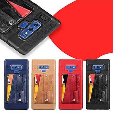 Недорогие Чехлы и кейсы для Galaxy Note-Кейс для Назначение SSamsung Galaxy Note 9 / Note 8 Бумажник для карт / со стендом / Матовое Кейс на заднюю панель Однотонный Твердый Кожа PU