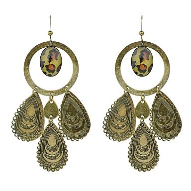 povoljno Naušnice-Žene Viseće naušnice Geometrijski Ispustiti Cvijet dame Osnovni Moda Naušnice Jewelry Braon Za Dnevno Spoj 1 par