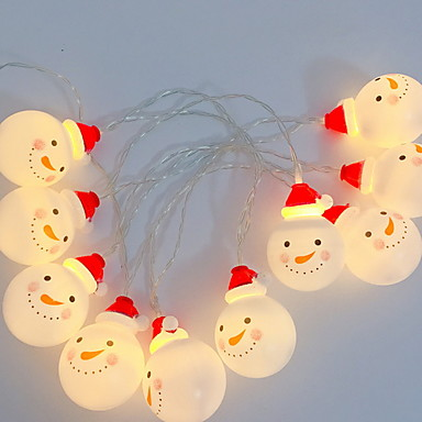 3M Žice sa svjetlima 20 LED diode Toplo bijelo Ukrasno AA baterije su pogonjene 1set
