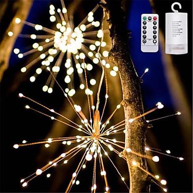 1pc LED noćno svjetlo Toplo bijelo AA baterije su pogonjene Vodootporno / Daljinski upravljano / Zatamnjen 5 V Žice sa svjetlima