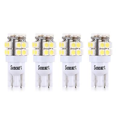 Недорогие Фары для мотоциклов-SENCART 4шт T10 / BA9S Мотоцикл / Автомобиль Лампы 3 W SMD 2835 160 lm 20 Светодиодная лампа Лампа поворотного сигнала / Мотоцикл / Внутреннее освещение Назначение