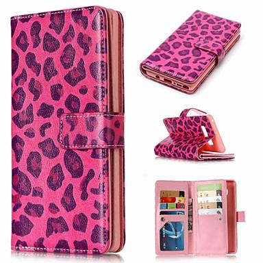 Недорогие Чехлы и кейсы для Galaxy Note-Кейс для Назначение SSamsung Galaxy Note 9 / Note 8 / Note 5 Кошелек / Бумажник для карт / со стендом Чехол Леопардовый принт Твердый Кожа PU