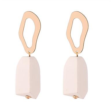 Žene Viseće naušnice Vintage Style dame Jednostavan Europska Moda drven Drvo Naušnice Jewelry Bijela / Braon / Plava Za Party Dnevno 1 par