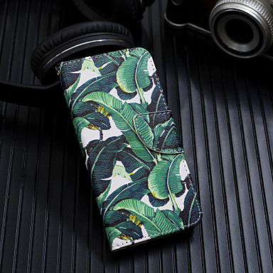 voordelige Galaxy A-serie hoesjes / covers-hoesje Voor Samsung Galaxy A6 (2018) / A6+ (2018) / Galaxy A7(2018) Portemonnee / Kaarthouder / Flip Volledig hoesje Boom Hard PU-nahka