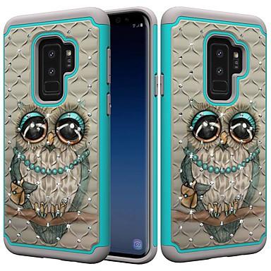 Θήκη Za Samsung Galaxy S9 / S9 Plus / S8 Plus Otporno na trešnju / Štras / Uzorak Stražnja maska Sova / Umjetno drago kamenje Tvrdo PC