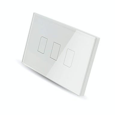 olcso smart Switch-BroadLink Smart Switch TC2 3gang-US mert Nappali / Tanulmány / Hálószoba APP vezérlés / WIFI vezérlés / intelligens 110-150 V