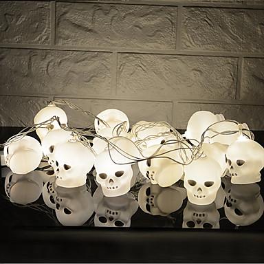 HKV 3M Žice sa svjetlima 16 LED diode Bijela Kreativan / Party / Ukrasno AA baterije su pogonjene 1pc