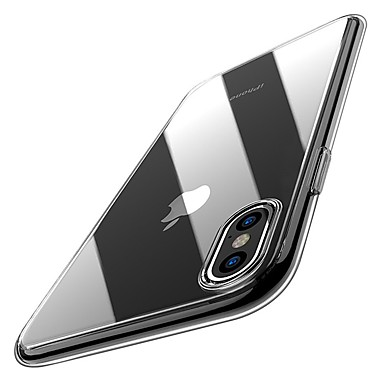 voordelige iPhone-hoesjes-hoesje Voor Apple iPhone XS / iPhone XR / iPhone XS Max Ultradun / Transparant Achterkant Effen Zacht TPU