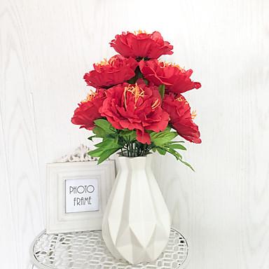 Umjetna Cvijeće 1 Podružnica Klasični Moderna Peonies Cvjeće za stol