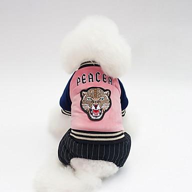 Psi Kaputi Zima Odjeća za psa Zelen Pink Dark Blue Kostim Buldog Shiba Inu Mops (Pug) Pamuk Lik Slogan Grijači Simple Style S M L XL XXL