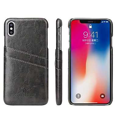 Θήκη Za Apple iPhone XS / iPhone XR / iPhone XS Max Utor za kartice / Otporno na trešnju Stražnja maska Jednobojni Tvrdo PU koža