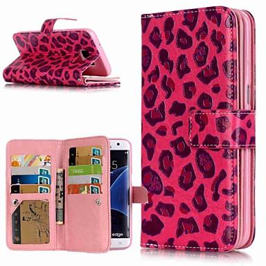 Θήκη Za Samsung Galaxy S9 / S9 Plus / S8 Plus Novčanik / Utor za kartice / sa stalkom Korice Uzorak leoparda Tvrdo PU koža