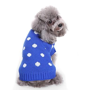 Psi Puloveri Zima Odjeća za psa Plava Pink Kostim Buldog Shiba Inu Koker španijel Terilen Spots & Checks Yarn Dyed Lik Spots & Checks Sweet Style S M L XL XXL