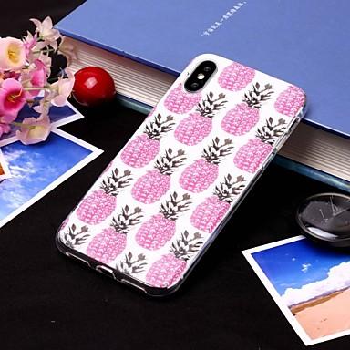 voordelige iPhone 6 Plus hoesjes-hoesje Voor Apple iPhone XS / iPhone XR / iPhone XS Max IMD / Doorzichtig Achterkant Voedsel / Fruit Zacht TPU