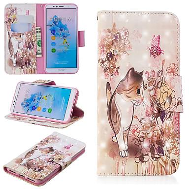 Θήκη Za Huawei Huawei Nova 3i / Huawei P Smart Plus / Honor 7A Novčanik / Utor za kartice / sa stalkom Korice Mačka Tvrdo PU koža