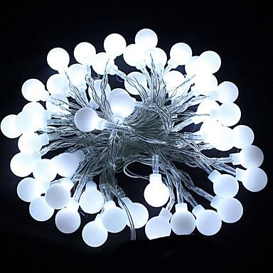HKV 10m Žice sa svjetlima 100 LED diode Toplo bijelo / Hladno bijelo / RGB Party / Ukrasno / Vjenčanje 220-240 V 1pc