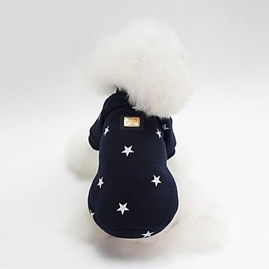 Psi Sportska majica Zima Odjeća za psa Pink Dark Blue Kostim Buldog Shiba Inu Mops (Pug) Pamuk Lik Zvijezde Sweet Style Grijači S M L XL XXL