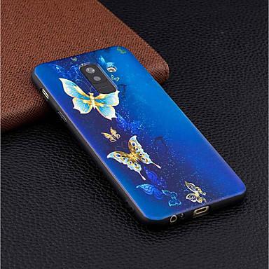Θήκη Za Samsung Galaxy A6+ (2018) / A6 (2018) Uzorak Stražnja maska Rukav leptir Mekano TPU za A6 (2018) / A6+ (2018) / A5 (2017)