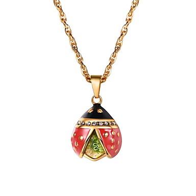 Muškarci Vedro Kubični Zirconia Ogrlice s privjeskom Tropical Sa životinjama Moda Slatka Style Tikovina Zlato Pink 55 cm Ogrlice Jewelry 1pc Za Dar Dnevno