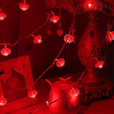 1.5m Žice sa svjetlima 10 LED diode Crveno Ukrasno AA baterije su pogonjene 1set