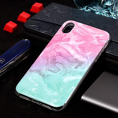 voordelige iPhone XR hoesjes-hoesje Voor Apple iPhone XS / iPhone XR / iPhone XS Max IMD / Patroon Achterkant Marmer Zacht TPU