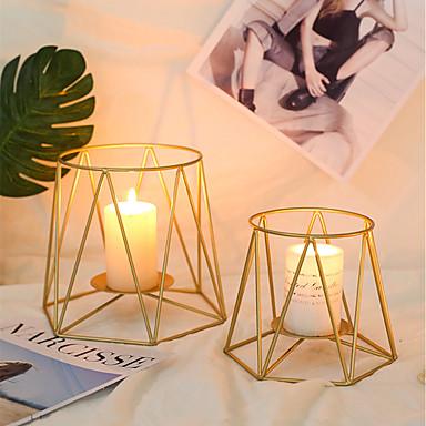 Modern / Comtemporary / Simple Style Željezo Svijećnjaci Boja svijeće / Ručno izrađen / Svijećnjak 1pc, Držač svijeća / svijećnjak