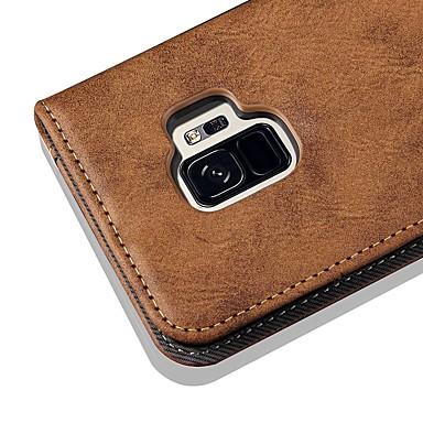 Θήκη Za Samsung Galaxy S9 / S9 Plus / S8 Plus Novčanik / Utor za kartice / sa stalkom Korice Jednobojni / Țiglă Tvrdo PU koža