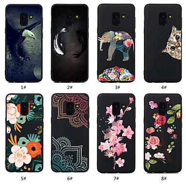 غطاء من أجل Samsung Galaxy S9 / S9 Plus / S8 Plus نموذج غطاء خلفي حيوان / زهور ناعم TPU