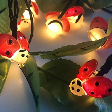 6,8 Žice sa svjetlima 30 LED diode Toplo bijelo Sunce / Ukrasno Napelemes 1set