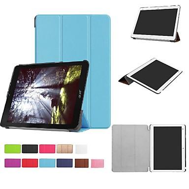 غطاء من أجل Acer Acer Iconia One 10 B3-A30 / Acer Iconia One 10 A3-A40 مع حامل / قلب / أورجامي غطاء كامل للجسم لون سادة قاسي الكمبيوتر الشخصي
