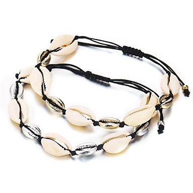 نسائي أساور السلسلة والوصلة كلاسيكي سيدات رومانسي مجوهرات هاواي قشرة مجوهرات سوار ذهبي / فضي من أجل هدية مهرجان